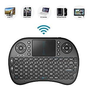 Best Deal® 2.4GHz Mini Wireless QWERTY Teclado con Touchpad Ratón móvil, Li-Ion Battery Para LG Smart TV 98ub980V & 55EC930V & 55uf950V & 65uf950V & 49uf8577& 55uf8577