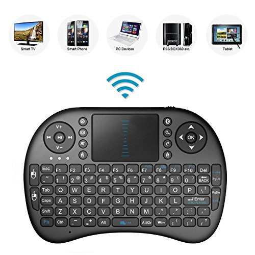 Bestdeal® 2.4GHz Mini Mobil Wireless QWERTY Tastatur mit Touchpad Maus, Li-ion Battery für Samsung Smart TV UE58J5250 UE48JU6050 UE55JU6050 UE65JU6050
