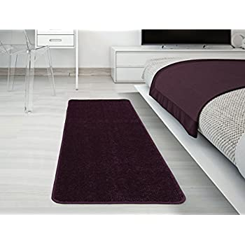"Polyester Fiber Anti-slip Carpet Water Absorption Entrance Rug Indoor/Outdoor Floor Mat Bathroom Kitchen Doormat Purple (18""W x 30""L) delicate"