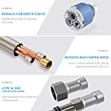 Kitchen Faucet, cUPC Certificated Sarissa Brushed Nickel Single Handle Pull Down Sprayer Kitchen Sink Faucet with Deck Plate High Arc Stream and Spray for Commercial and Home
