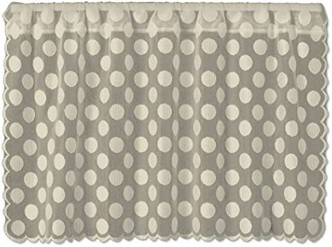 Heritage Lace Cafe Tier, 42 by 30-Inch, Polka Dot