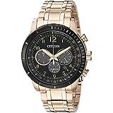 Citizen Men's 'Chronograph' Quartz Stainless Steel Casual Watch, Color:Rose Gold-Toned (Model: CA4359-55E)