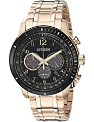 Citizen Mens Chronograph Quartz Stainless Steel Casual Watch, Color:Rose Gold-Toned (Model: CA4359-55E)