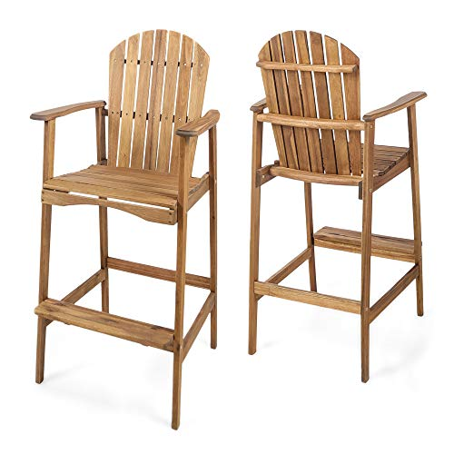 - Christopher Knight Home 303451 Malibu Outdoor Bar Set Natural Stained