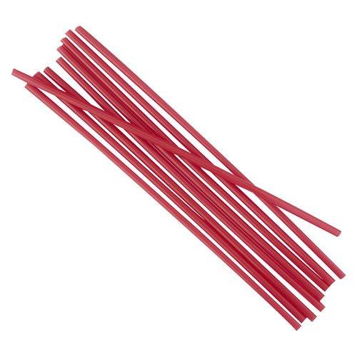 Boardwalk STRU525R10 Unwrapped Single-Tube Stir-Straws44; Red by Boardwalk