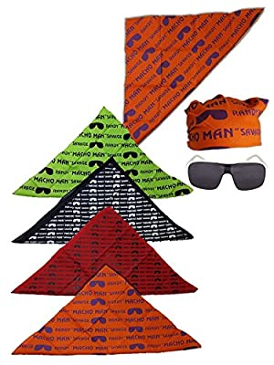 Macho Man Randy Savage Colored Costume Glasses Bandana