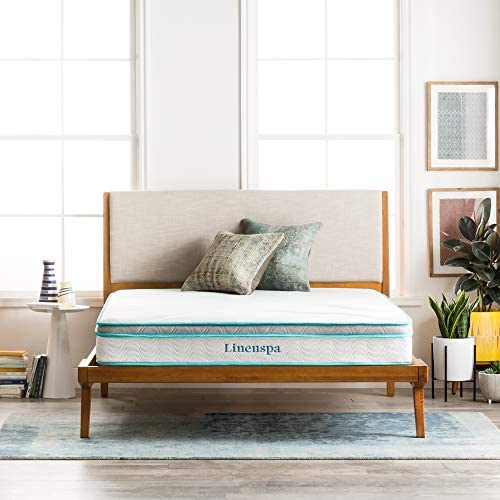 home, kitchen, furniture, bedroom furniture, mattresses, box springs,  mattresses 3 discount Linenspa 8 Inch Memory Foam and Innerspring Hybrid deals