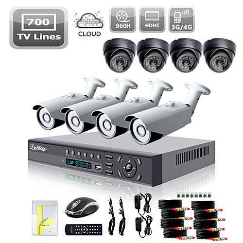 LightInTheBox Dome Cameras Bundle with Bullet Cameras and DVR Kits