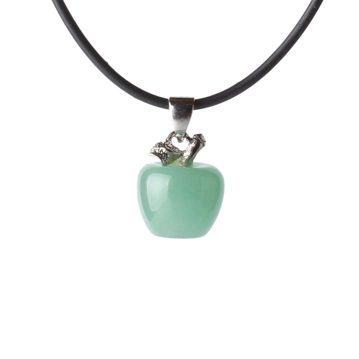 Matt Hann Apple Pendant Original Handmade Grouding Stone The Wet Brush Gemstone Teal Agate Protection Green B Jewelry