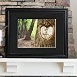 Personalized Tree of Love Print w-Wood Frame