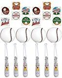 Inflatable Baseball Party Favors 24'' Baseball Bat and 9'' Ball Set - 1 Dz of each PLUS 72 pc Baseball tattoos