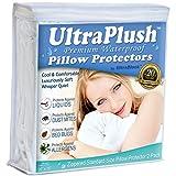 UltraPlush Premium Waterproof Pillow Protectors - Hypoallergenic & Bed Bug Proof Zippered Pillow Case - 2 Pack - Super Soft & Quiet (Standard Size 20' x 26')