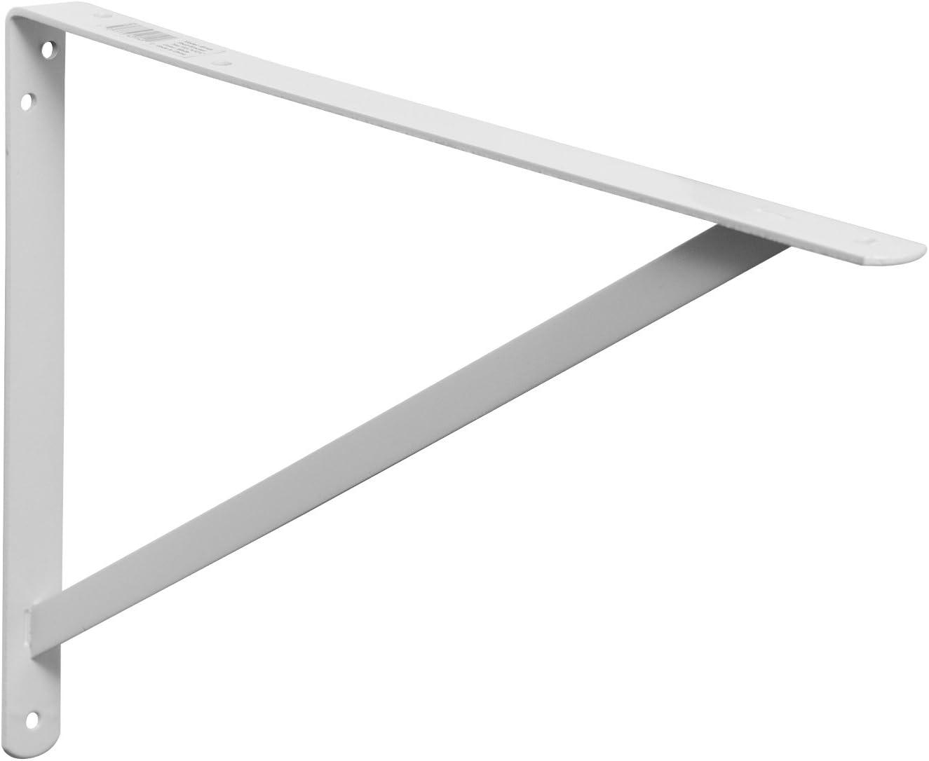 White Decko 49149 Heavy Duty Shelf Bracket 19.25-Inch by 12.50-Inch 10-Pack