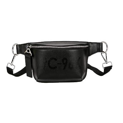 d95b1ece1d Amazon.com  Fashion Leather Pure Color Leather Waist Bag