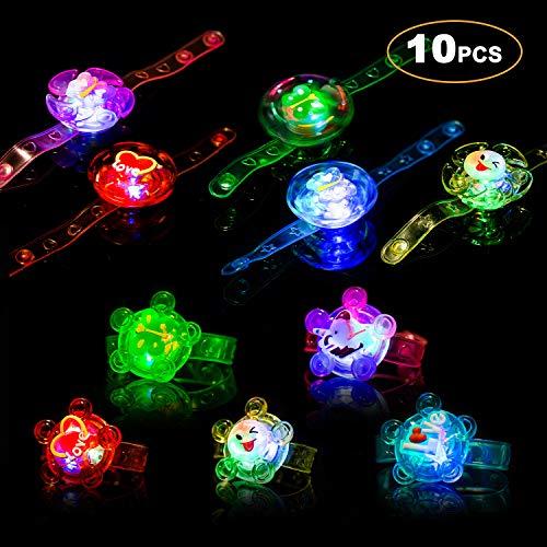 Light Up Bracelet Party Favors 10 Pack LED