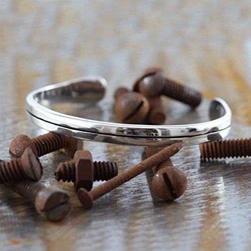 Carpe Diem Jewelry Mens Sterling Silver Cuff Bangle Bracelet Personalized Engraving by Carpe Diem Jewellery