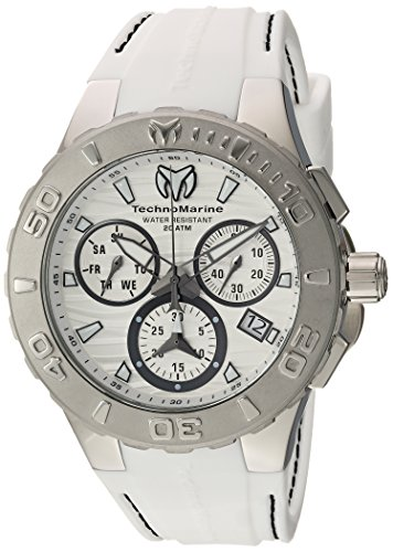 Technomarine Men's 'Cruise' Quartz Stainless Steel and Silicone Casual Watch, Color:White (Model: TM-115074)