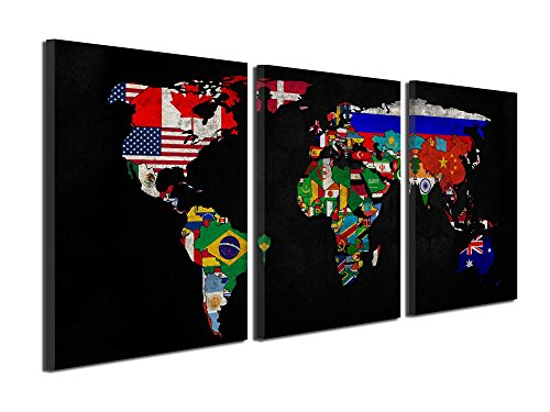 Gardenia Art World Map Series 1 Canvas Prints Wall Art Paint