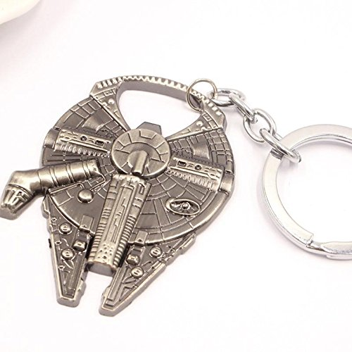 New Star Wars Millennium Falcon Metal Alloy Bottle Opener & Keychain (Starwars Bottle Openers compare prices)