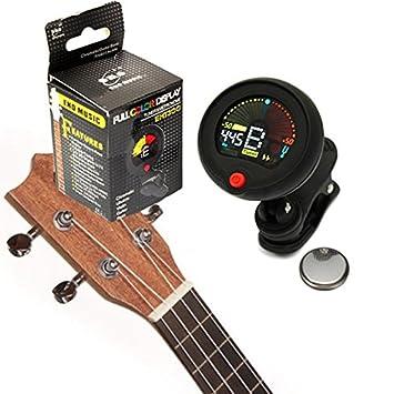 VIDOO Afinador Cromático Clip-On Metrónomo para Guitarra Eléctrica Ukelele Bajo: Amazon.es: Hogar