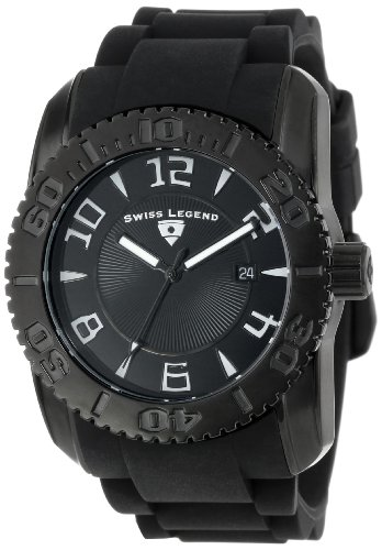 Swiss Legend Men's 20068-BB-01 Commander Collection Black Ion-Plated Black Dial Watch