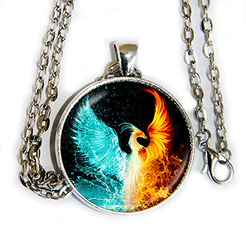 Fangirl Halloween Costumes (Fire and Ice Phoenix - pendant necklace - HM)