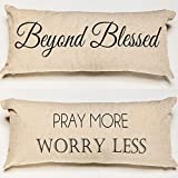 Pray-Blessed Spiritual Reliious Message Throw Pillow