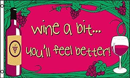 Amazon Com Az Flag Wine A Bit Flag 3 X 5 Drink Wine Flags 90 X 150 Cm Banner 3x5 Ft Garden Outdoor