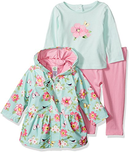 Little Me Baby Girls 3 Piece Jacket and Pants Set