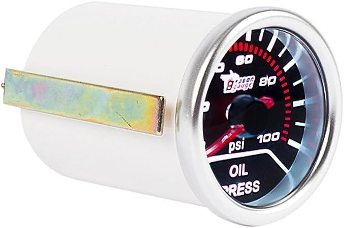 Mintice 2 52mm Led Licht Kfz Auto Öldruck Anzeige Oil Pressure Anzeige Instrument Gauge Meter Rauchfarbe Len Auto