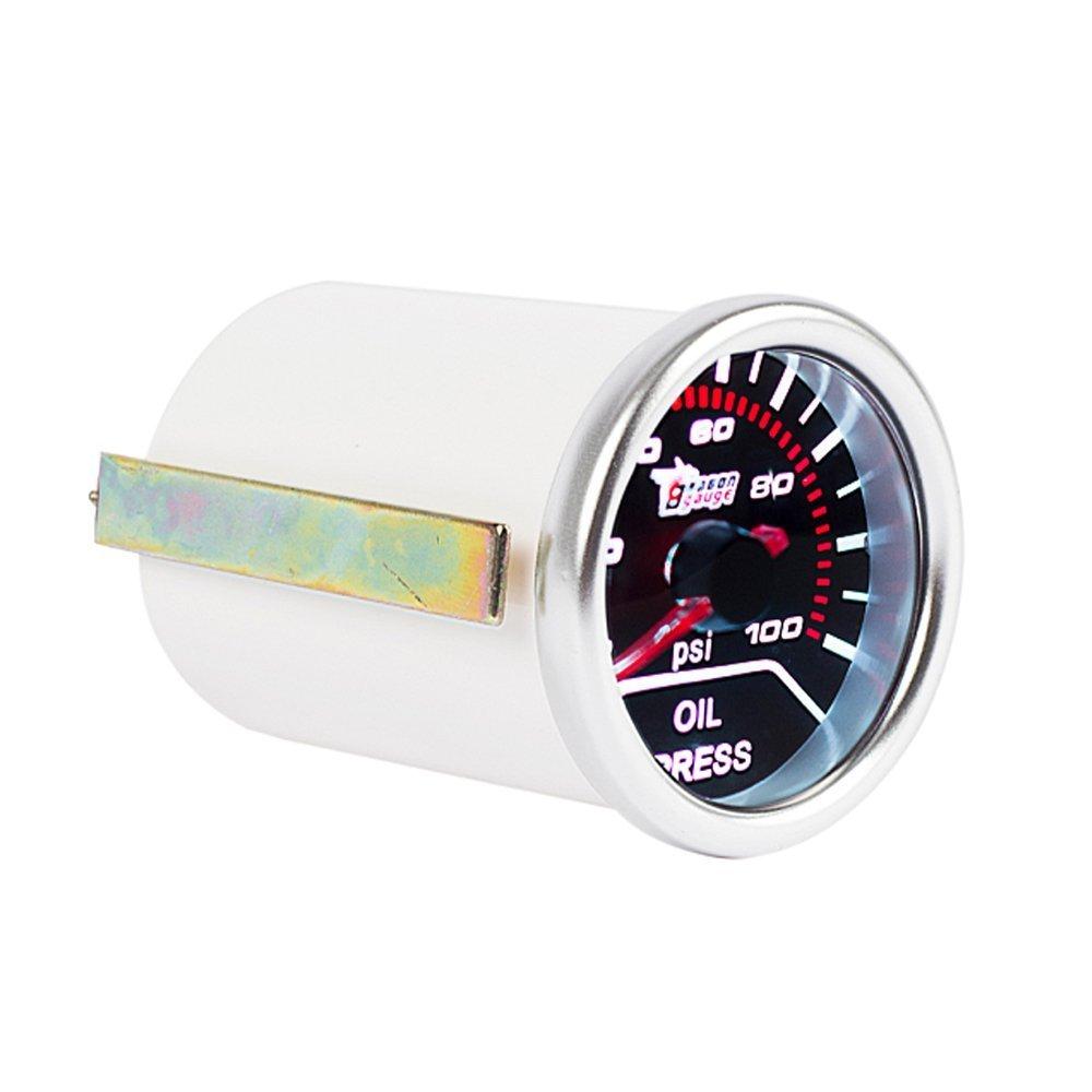 Mintice 12V Auto Motore 2' 52mm Universale Manometro bianca LED digitale leggero Gas di scarico temp misura Fumo viso tinta