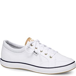 Keds Women's Center Chambray Sneaker, White, 6