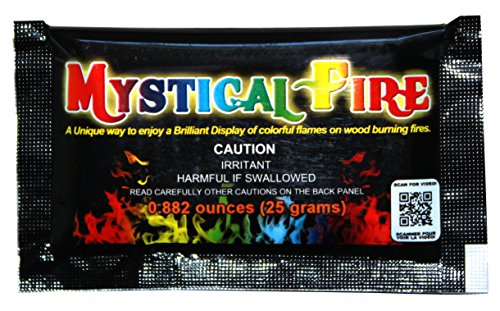 Mystical Fire Flame Colorant Vibrant Long-Lasting Pulsating Flame Color Changer for Indoor or Outdoor Use 0.882 oz Packets 6 Pack]()