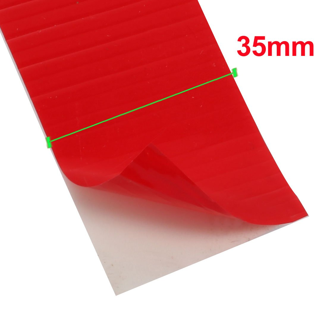 uxcell2pcs 35mm Wide 4m Length 3mm Thick Double Sided Sealing Sponge Tape White Red