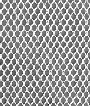 4mm Polyester Hex Mesh - White Fabric - by the Yard