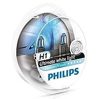 Philips Diamond Vision H1 5000K Última luz blanca 12V 55W (paquete de 2) 12258DVS2