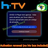 HTV 1 2 3 5/A1/A2/IPTVKINGS/BRAZIL Box/Super Brazil IPTV Brazil Subscription 16-Digit Renew Code with Magic Keys Free 1 Extra Month (Brazilian Activation Code)