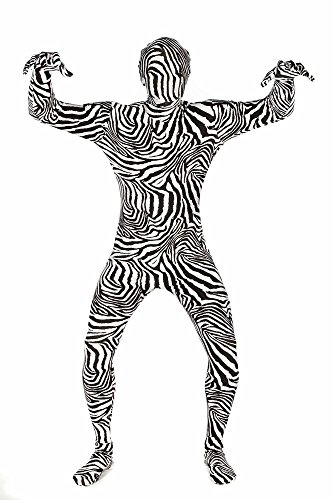 Morphsuits Premium Zebra  M, Black / White, Medium (Morph Suit Sizing)