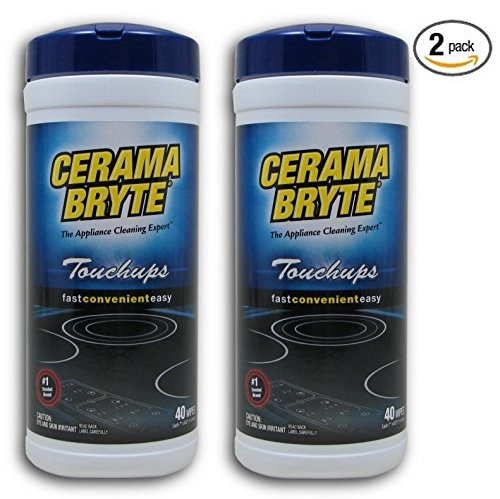 (2 Pack) Cerama Bryte Touchups Wipes Ceramic Cooktop Cleaner, 2 x 40-ct by Cerama Bryte