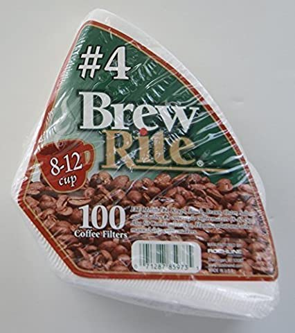 #4 Cone Coffee Filter, 100-Count-Brew Rite-46-101W/24 by Brew Rite