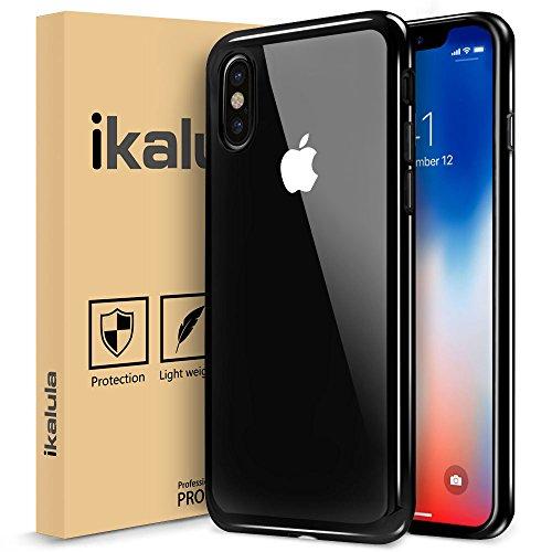 Coque iPhone X, ikalula Coque de Protection iPhone X Housse Ultra Fine TPU Silicone iPhone X Bumper Case Absorption de Choc Résistant aux rayures Très Légère Coque pour iPhone X - Black