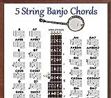 5 STRING BANJO CHORDS CHART & NOTE LOCATOR