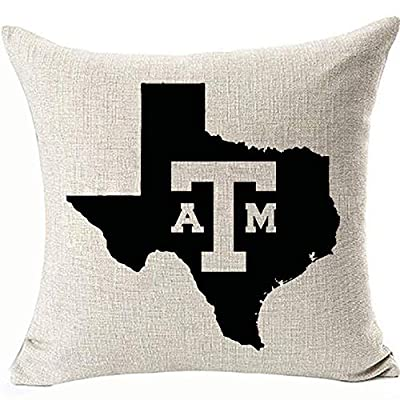 Texas State Map Cushion Covers for Couch Sofa ChairDecoratives Throw Pillowcases 18x18inch Square Linen Machine Washable Removable Two Side Invisible Zipper
