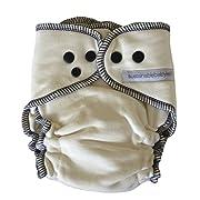 sustainablebabyish | sloomb overnight bamboo fleece fitted (small, peacot)