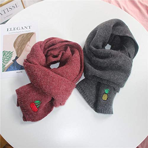 Party Casual Sweaters For Winter Shopping Outdoor Aimfor Childrens Scarf With Fruit Embroidery Scarves For Kids Soft Warm Loop Scarf With Coats Holiday,22 * 130CM,Wool Beach Jackets