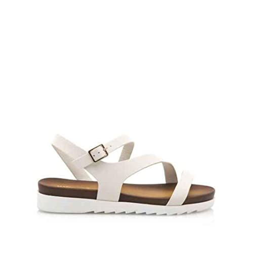 Nueva moda Mujer Zapatos Mariamare Sandalias blancas con