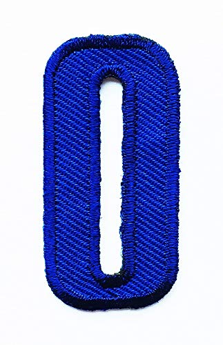 2x1 Inches Blue English O Alphabet A to Z Letter School Patch Cartoon Children Kids Embroidered Applique Craft Handmade Baby Kid Girl Women Clothes DIY Costume Accessory. (Lalphabet Letter)