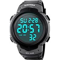 Reloj Digital Hombre,Welltop Reloj Deportivo Hombre Reloj cronometro con Temporizador de Alarma, dial Grande,Impermeable…