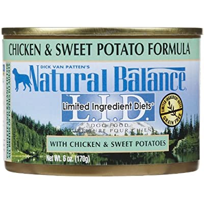 Natural Balance L.I.D. Canned Dog Food Chicken and Sweet Potato 6 oz
