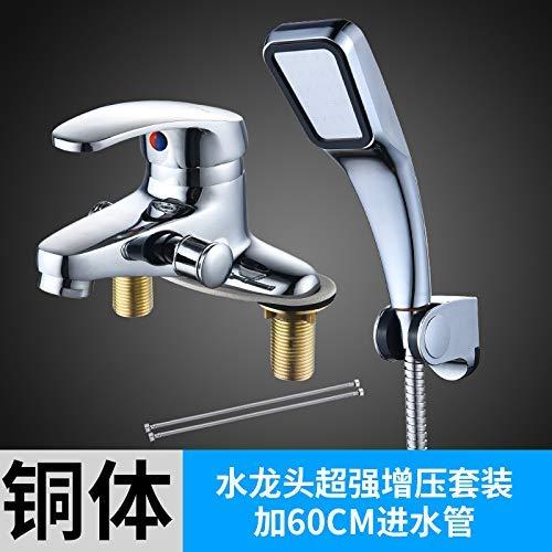 F XINXI HOME Mixing valve faucet double hole with shower bath set mixing valve wash basin dual use shower faucet, copper body faucet negative ion set M (color   T)